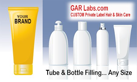 GAR Labs Laboratories Tube Filling Bottle Filling Hair Care Skin Care